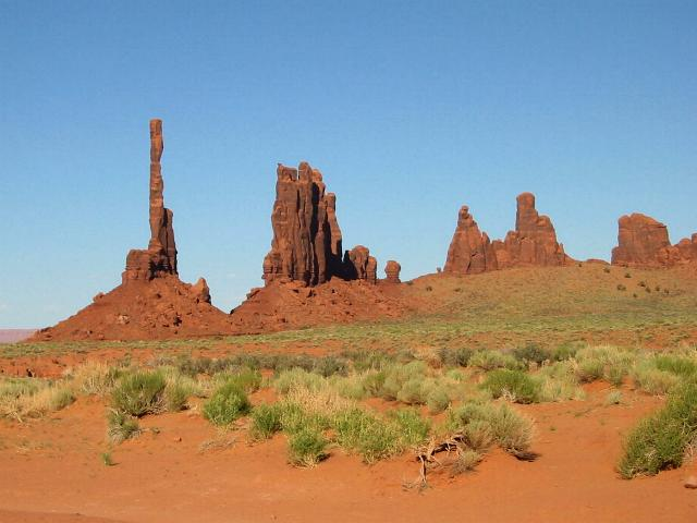 Totem Pole, featured in Eiger Sanction, at Monument Valley