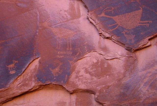 Petrographs at Monument Valley