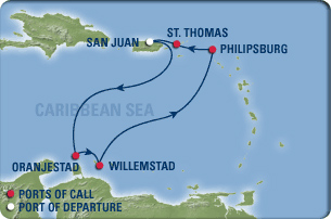 Cruise route map