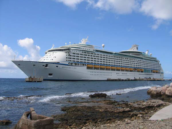 Adventure of the Seas berthed at Curacao