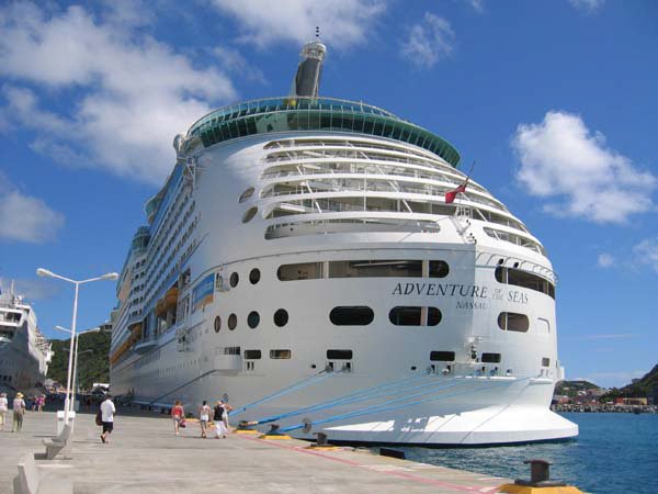 Adventure of the Seas berthed at St Martin