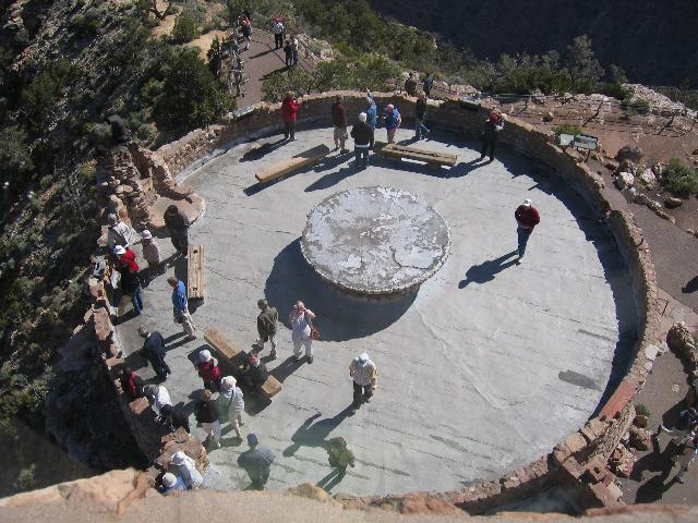Looking ouside from the top of the Watchtower, Grand Canyon
