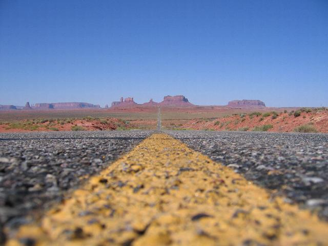 The road out of Monument Valley