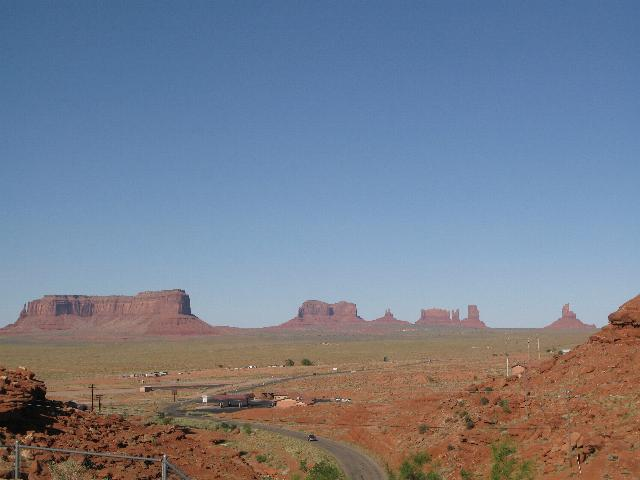 Monument Valley from Gouldings Lodge