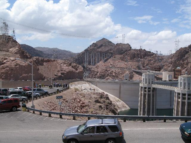 Hoover Dam, with new bridge in the background