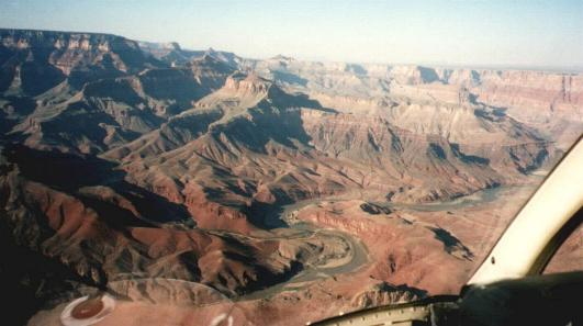 The Colorado River, in the Grand Canyon, taken on helicopter flight.