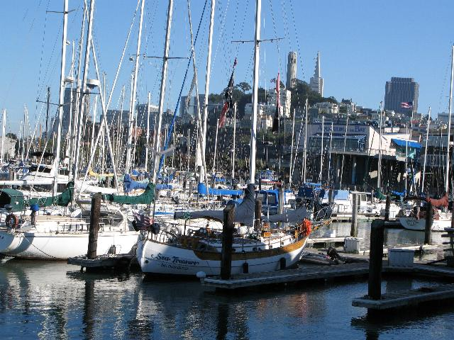 The Harbour and City at Fishermans Wharf