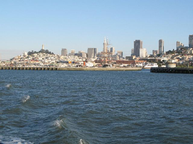 Lookin back at the City of San Francisco from the Bay.