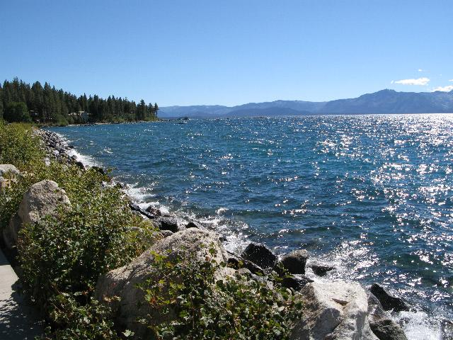 East bank of Lake Tahoe