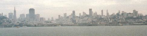 San Francisco from boat on way to Alcatraz
